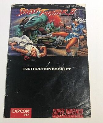 STREET FIGHTER II 2 Super Nintendo SNES (MANUAL ONLY) No Game or Box