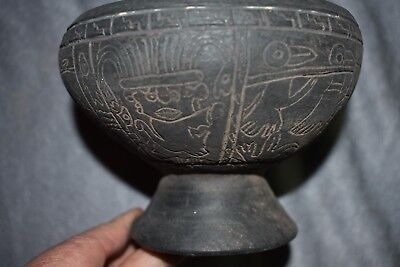 "Orig $399. Pre Columbian Figured Bowl 6"" Provenance"