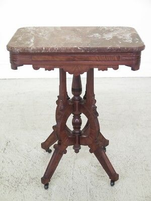 F30130EC: Antique Victorian Marble Top Occasional Table