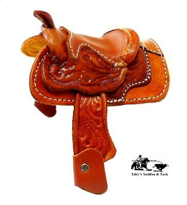 "Mini Decorative Saddle 2"" Seat Western Novelty by Mexico Leather Factory New"