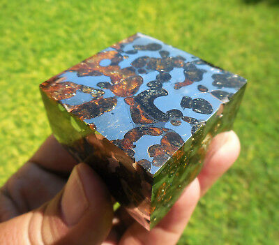 262.3 gram small and affordable SERICHO Pallasite Meteorite block - from Kenya