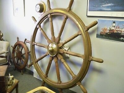 6 Foot Ship Wheel From Great Lakes Freighter Imperial Windsor