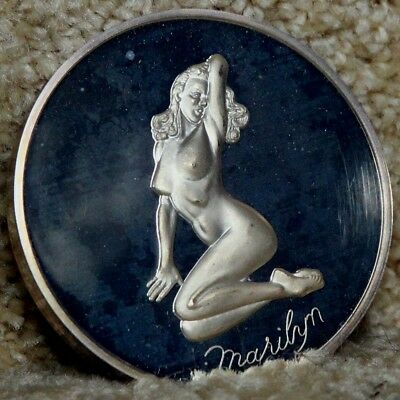 Marilyn Monroe 5 oz .999 silver round from the Madison Mint in plastic capsule.