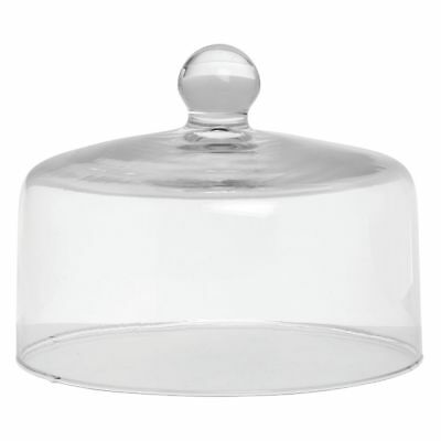 "Mosser Glass Clear Dome Cake Cover - 9""Dia x 7""H"