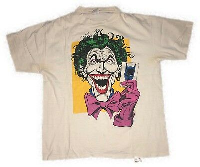 vintage rare Joker Batman t shirt men's Sz Extra Large XL USA New 1988 DC Comics