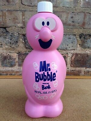 Vintage Gold Seal Co. Mr. Bubble Bank Bubble Bath Figural Bottle - Plastic