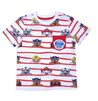 Paw Patrol T-shirt Toddler Boys Size 3T 4T 5T