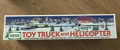 1995 Hess Toy Truck And Helicopter New W Box