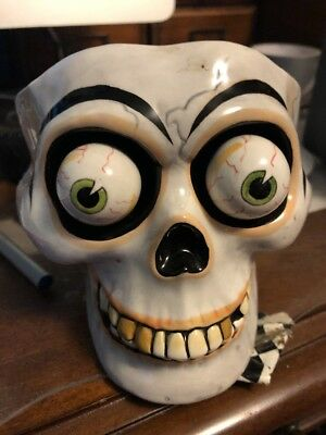Dept 56 Skull Candle With Google Eyes