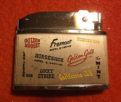 Vintage 1962 LAS VEGAS ADVERTISING LIGHTER Downtown Casino Center Lighter