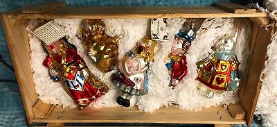 Kurt Adler Polonaise Alice In Wonderland Ornaments In Wood Crate # 1152 Of 7500