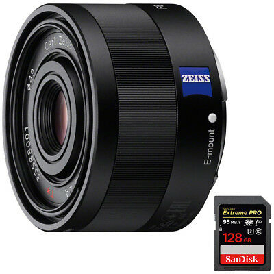 Sony Sonnar T* FE 35mm F2.8 ZA Full Frame Camera E-Mount Lens+128GB Memory Card