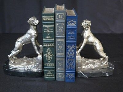LF43539: SIGNATURE STATUARY Pair OF Bronze Boxer Dog Bookends A5185S~ NEW