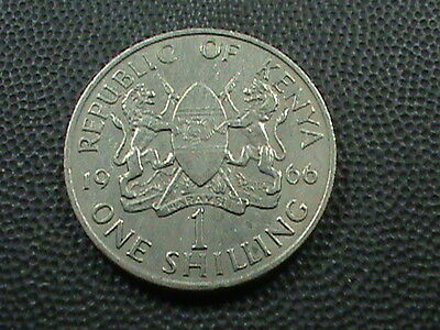 KENYA    1 Shilling     1966   ,   $ 2.99  maximum  shipping  in  USA