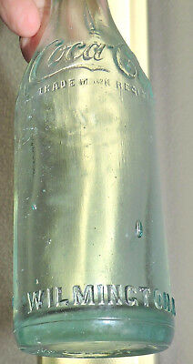 "Rare Aqua Straight Side Coca Cola  Bottle  ""  Wilmington, North Carolina  "" Nice"