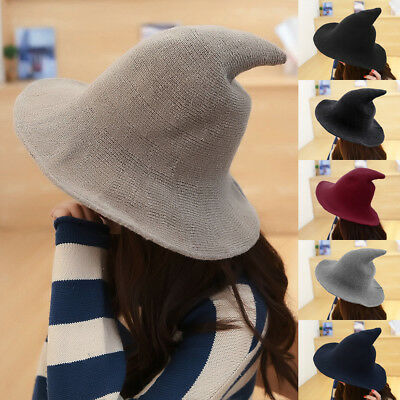 AU Winter Men Women Unisex Witch Pointed Wool Hat Cap Bowler Fedora Cap Trilby