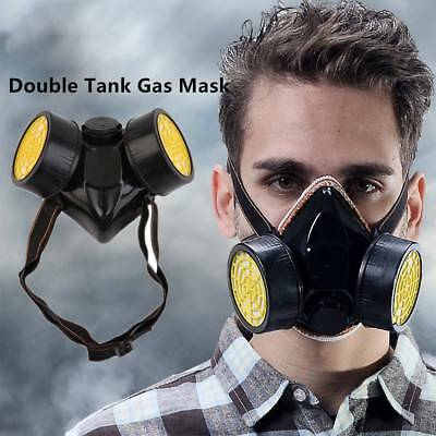 Emergency Survival Gas Mask with Dual Protective Filter Safety Respiratory Tools