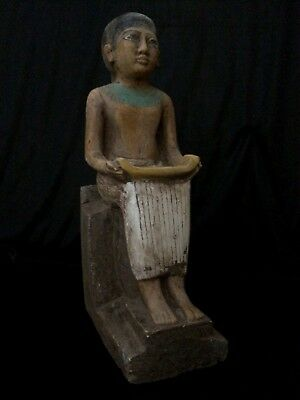 EGYPTIAN Art ANTIQUITIES ANCIENT EGYPT Statue God of Seated Imhotep 2650-2600 BC