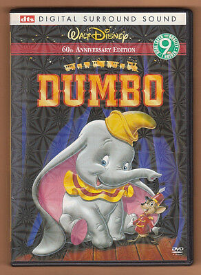 Dumbo (2001) DVD ~ Walt Disney ~ 60th Anniversary ~ DTS Surround Sound