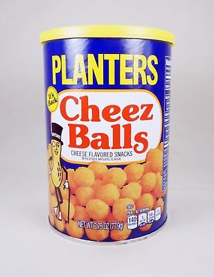 LOT OF 12 ! Planters Cheez Balls 2018 Limited Release - 2.75oz canisters WOW !