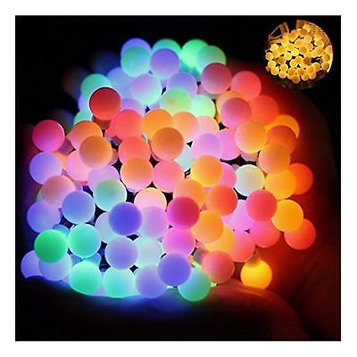 Ball Fairy Lights, 17Ft 60 LED Waterproof Color Changing Globe String Lights