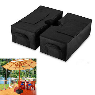 2pcs Weight Sand Bag For Umbrella Base Stand Detachable Bags for Outdoor Patio
