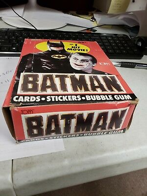 1989 TOPPS BATMAN Series 1 Red Movie Card Wax Box 35 packs 1 missing