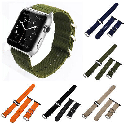 Woven Nylon Sport iWatch Band Strap Bracelet For Apple Watch Series 1 2 3 4 44mm