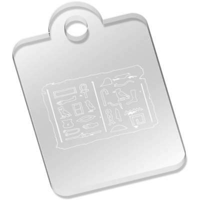 49mm 'Egyptian Hieroglyph Tablet' Acrylic Keyring (AK00040492)