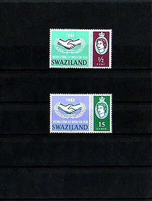 Swaziland - 1965 - Qe Ii - Icy - Cooperation Year - Mint - Mnh - Set!