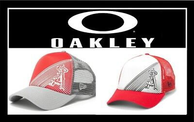 official photos 34f6e f83be ... 50% off oakley los angeles anaheim angels new era 9forty baseball  trucker hat cap new