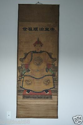 Antique Very Old Chinese Watercolor Long Hanging Scroll Master Work Painting