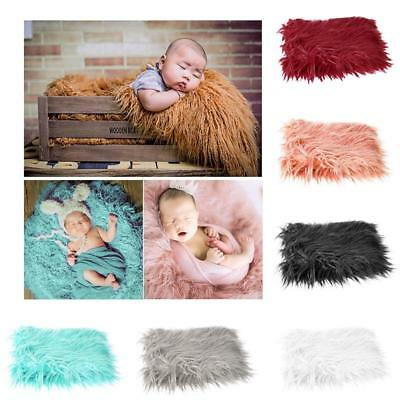 Infant Baby Photo Props Newborn Photography Soft Fur Quilt Blanket Mat Gift US