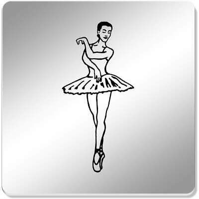 6 x 'Ballet Pose' 95mm Mirror Coasters (CR00098495)