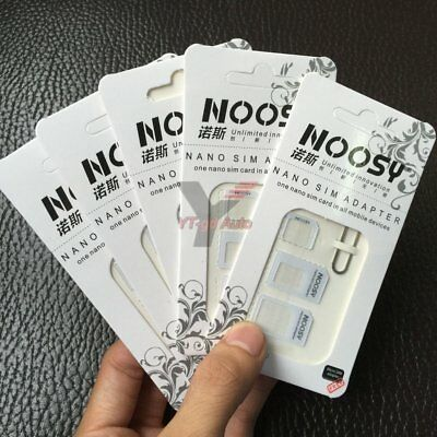5PCS 4 IN 1 Nano to Micro/Standard SIM Card Adapter Converter For Samsung iPhone