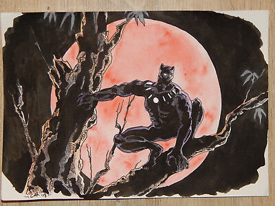 BLACK PANTHER A4 Commission by CHIARA DE ROSA --> Zeichnung, Marvel, Avengers