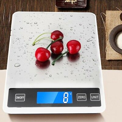 Digital Kitchen Scales 22lb/10kg Charging Button Touch Waterproof Cooking Scale
