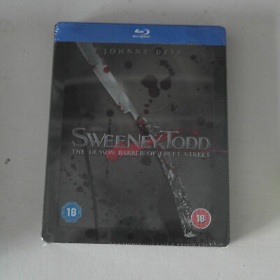 Bluray Steelbook Sweeney Todd [Blu-ray] [2015] [Region Free] Tim Burton NEW