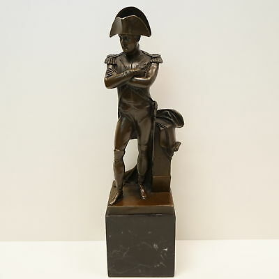 Statue Sculpture Napoleon French Style Bronze Signed