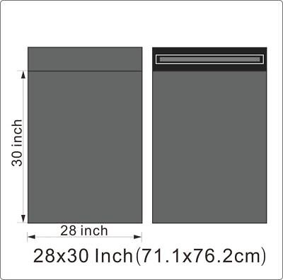 "25 BAGS - 28"" x 30"" STRONG POLY MAILING POSTAGE POSTAL QUALITY SELF SEAL GREY"