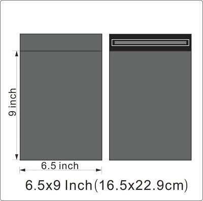 "100 x 6.5""x9"" STRONG SELF ADHESIVE GREY POSTAL MAILING BAGS"