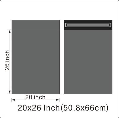 "1000 BAGS - 20"" x 26"" STRONG POLY MAILING POSTAGE POSTAL QUALITY SELF SEAL GREY"