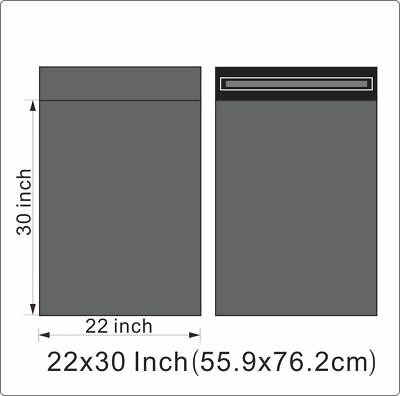 "1000 BAGS - 22"" x 30"" STRONG POLY MAILING POSTAGE POSTAL QUALITY SELF SEAL GREY"