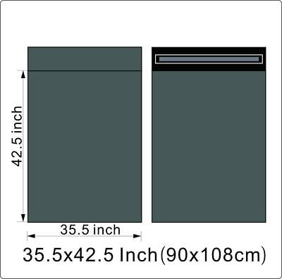 "1000 BAGS - 35"" x 42.50"" STRONG POLY MAILING POSTAGE QUALITY SELF SEAL GREY"