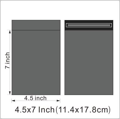 "100 BAGS - 4.5"" x 7"" STRONG SELF ADHESIVE GREY POSTAL MAILING BAGS"