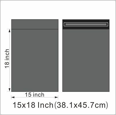 "100 BAGS - 15"" x 18"" STRONG SELF ADHESIVE GREY POSTAL MAILING BAGS"