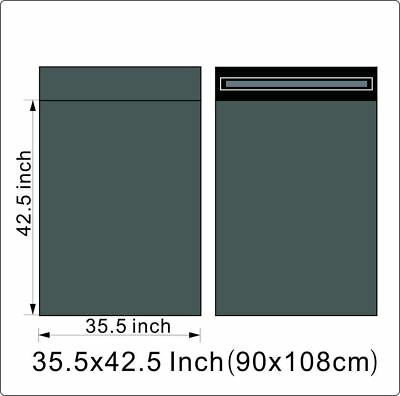 "100 BAGS - 35"" x 42.50"" STRONG POLY MAILING POSTAGE QUALITY SELF SEAL GREY"