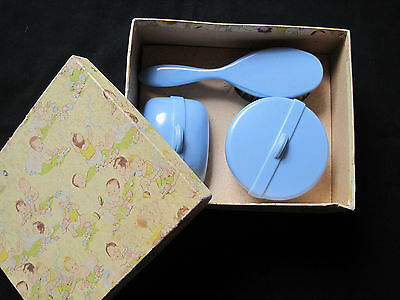 vintage baby blue boy vanity set original old 1950s gift boxed