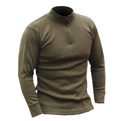 ITALIAN ARMY SURPLUS BASE LAYER TOP – unissued quality olive green thermal layer