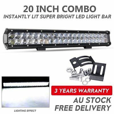 20inch Cree LED Light Bars Flood Spot Combo 12V24V 4X4 Offroad Work Driving 4WD